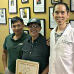 jersey city physical therapy back pain patient Rose with Dr. James Pumarada and physical therapist Humberto Colmenares