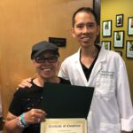 vestibular physical therapy specialist dr. james pumarada with a dizziness and vertigo patient complete physical rehabilitation