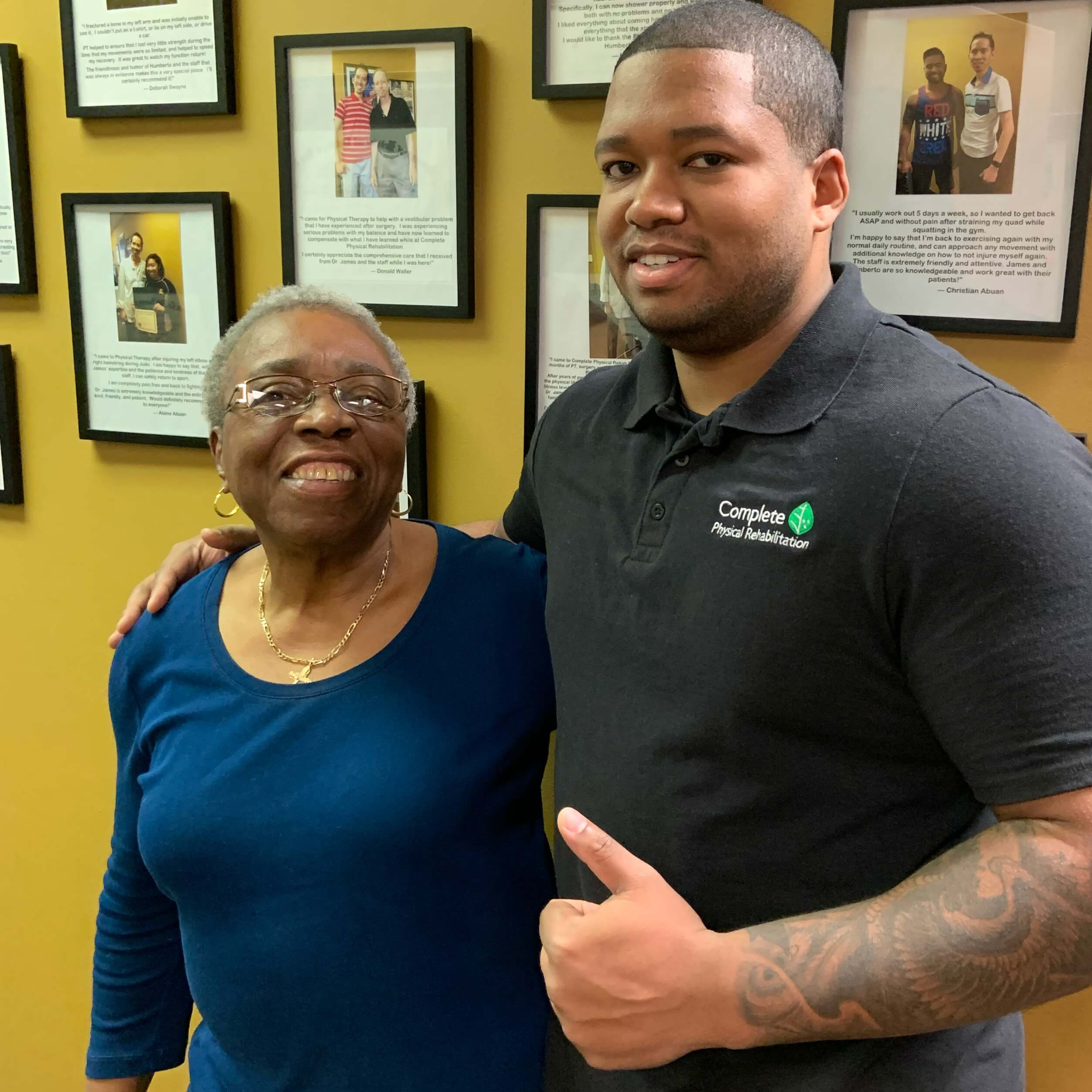 physical therapy specialist in jersey city dr. stefan paul with a happy complete physical rehabilitation patient